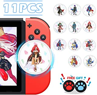 NFC Tag Game Cards for Fire Emblem: ThreeHouses Switch/Wii U - 11pcs Round Mini Cards with Crystal Case