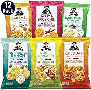 12-Pack Quaker Rice 6 Flavor Crisps