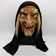 Halloween mask skrämmande vuxen gammal häxa mask latex läskig halloween fin klänning grimas party kostym tillbehör cosplay...