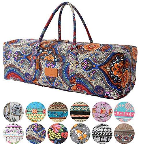 #DoYourYoga Yogatragetasche »Ghanpati Segeltuch aufwendig verarbeitet, Tasche für Yogamatten, Pilatesmatten, Fitnessmatten bis zu Einer Größe von 186x62x1,5 cm, in 12 Designs braunes Muster