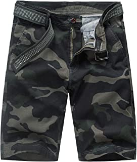 Winwinus Men Straight Leg Multicamo Plus-size Loose Short Pants Combat Pants