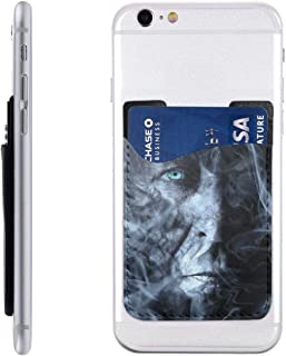 Man Smoking Fog Wallpaper Fantasy Cell Phone Stick On Wallet Card Holder Phone Pouch Sleeve Pocket for iPhone, Android and All Smartphones