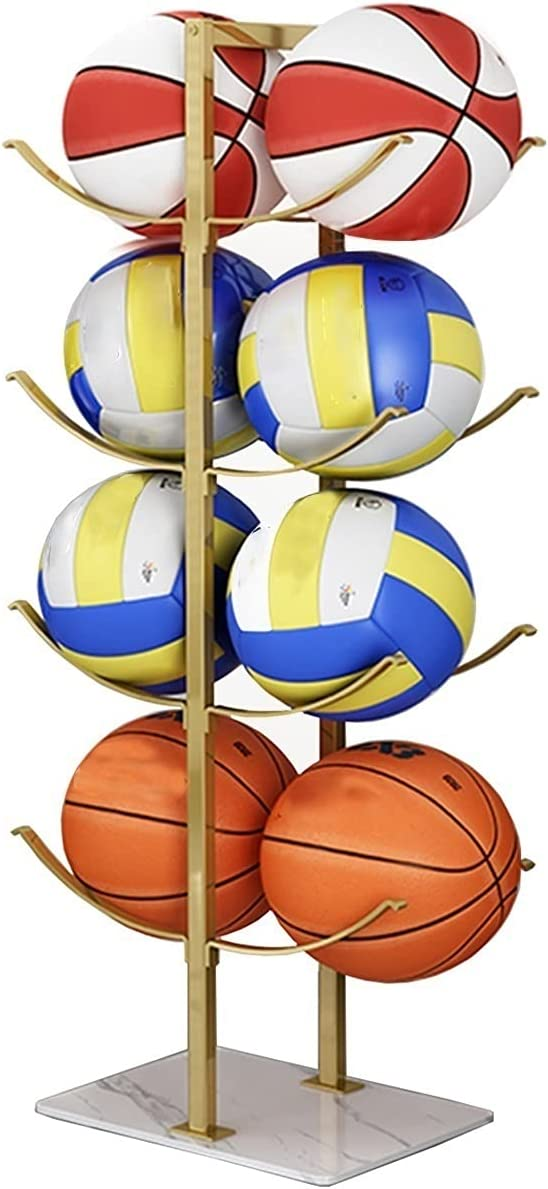 ZRFANS 4-Layer Shelf Stand Sale SALE% OFF Basketball outlet Metal Sports Storage Rack