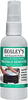 Begley's Best Natural No-Iron Wrinkle Remover, Quick Fix Wrinkle Release, Static Cling Remover, Fabric Freshener - Plant-B...
