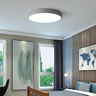 Plafonnier de salle de bain à LED, couleur macaron ultra-mince, blanc lumière du jour 6000K, simple et moderne, utilisé da...