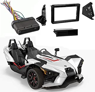 Compatible with Polaris Slingshot 2015-2017 Single or Double DIN Stereo Radio Install Dash Kit