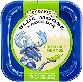 Blue Moose, Organic Green Chile Hummus,8oz