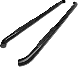 TAC Side Steps fit 2007-2012 Hyundai Santa Fe SUV 3 inches Black Side Steps Nerf Bars Step Rails Running Boards Off Road Automotive Exterior Accessories (2 Pieces Running Boards)