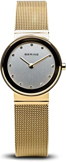 BERING Time 10126-334 Womens Classic Collection Watch with Mesh Band and Scratch Resistant Sapphire Crystal. Designed in Denmark.