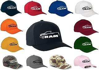 2010-17 Dodge Ram Pickup Truck Classic Outline Design Flexfit hat Cap
