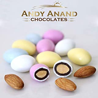 Andy Anand Sugar Free Pastel Jordan Almonds Large, Amazing Taste, Gift Boxed & Greeting Card, Favors, Candy Dishes Baby Sh...