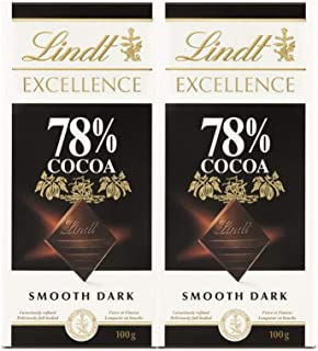 LINDT CHOCOLATE EXCELLENCE DARK 78% 100 GM (Pack of 2)