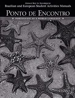 Ponto De Encontro: Portuguese As a World Language, Answer Key to Student Activities Manual