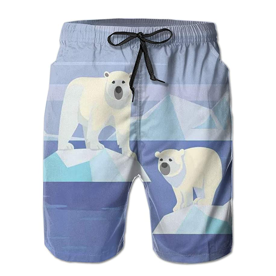 Men Swim Trunks Beach Shorts,Argyle Pattern with White Dotted Lines Vintage Traditional