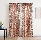 XINGMAO 9FT x 9 FT Rose Gold Big Payette Sequin Backdrop Drapes Curtains Panels - Wedding Decorations Home Party Reception Supplies