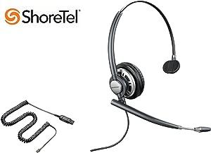 ShoreTel Compatible Plantronics EncorePro 710 Noise-Canceling Headset Bundle for ShoreTel IP 420 480 480G 485