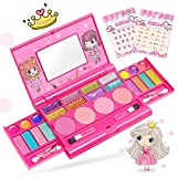 Pickwoo Girls Makeup Kit for Kids Washable Kids Makeup Set, Kids Makeup Kit, Fold Out Makeup Palette with Mirror and Secure Close All-in-one Makeup for Girls, Safety Tested- Non-Toxic