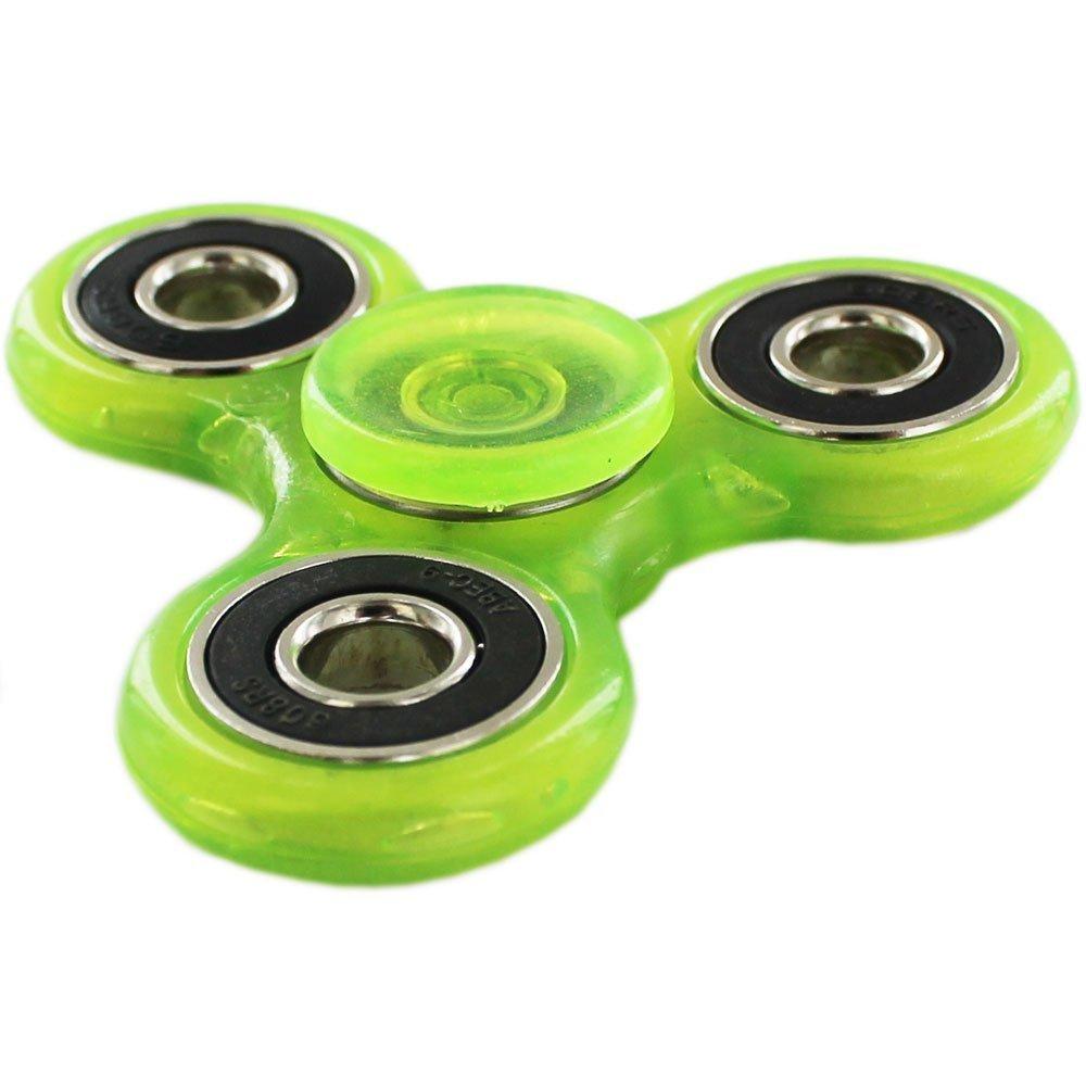 Whirlez Glow In The Dark Tri Fidget Hand Spinner Spielzeug: Amazon.es: Juguetes y juegos
