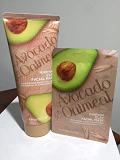 Avocado and Oatmeal Purifying Clay Facial Mask (Moisturizes & Deep Cleans Pores for normal to combination skin)