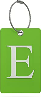 Luggage Tag Initial – Fully Bendable Tag w/ Stainless Steel Loop (Letter E)