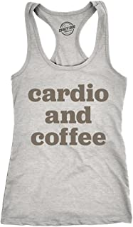 5a1e20cef1b5 Crazy Dog T-Shirts Womens Cardio and Coffee Tank Top Funny Morning Workout  Tank for