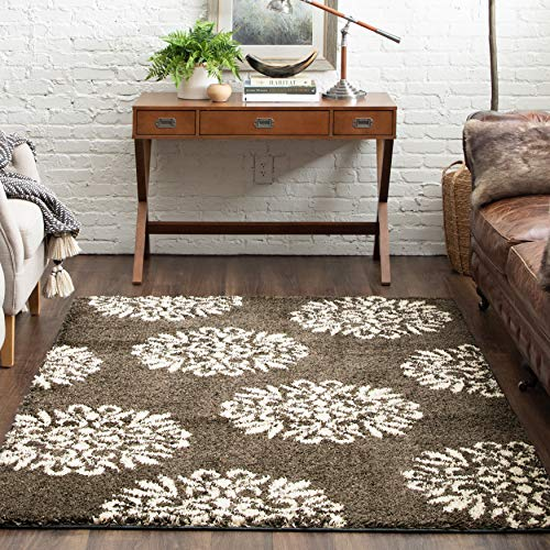 Mohawk Home Exploded Medallions Sand Stone Rug Transitional 8'x10' ash grey