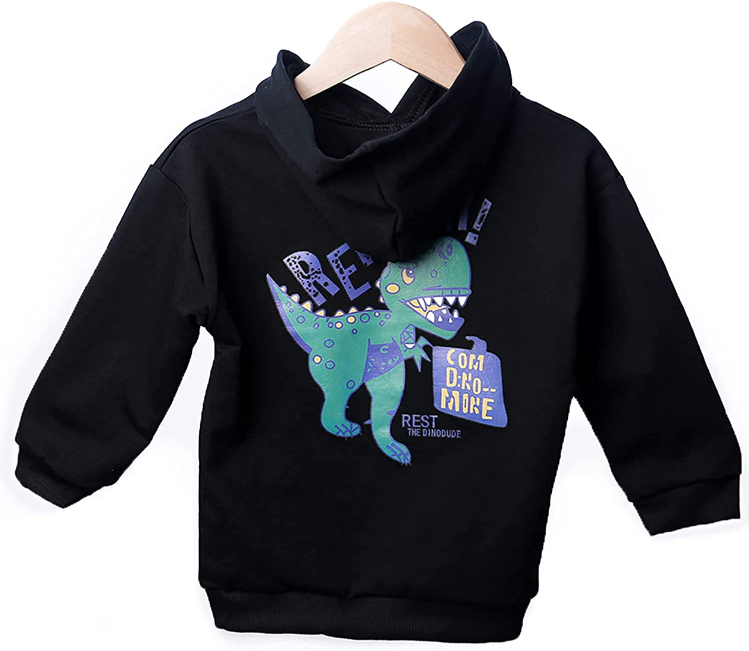 CITYGATE Toddler Boys Girls Hoddie White Clothes Dinosaur Casual Long Sleeve Outfits for Kids 1-6T