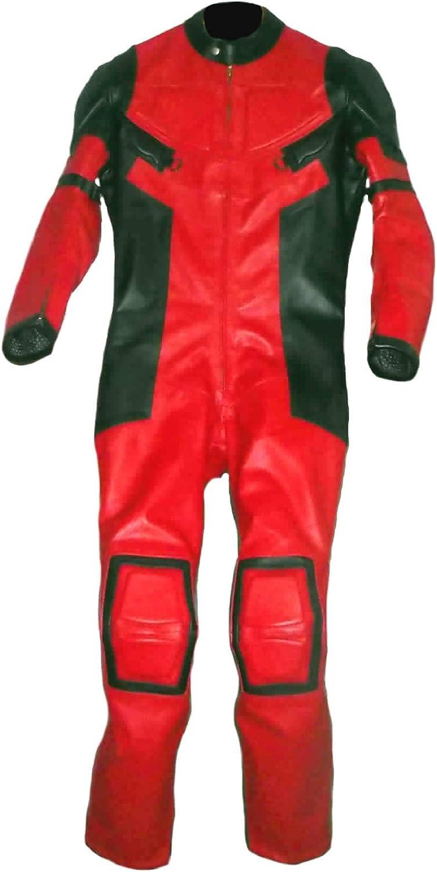 coolhides Men's Real Leather Motorbike Suit