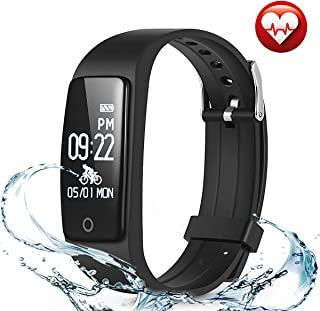 FITMAKER Fitness Tracker, Activity Tracker Watch Heart Rate Monitor, Waterproof Smart Bracelet Step Counter, Calorie Counter, Pedometer Watch Kids Women Men, Android & iOS