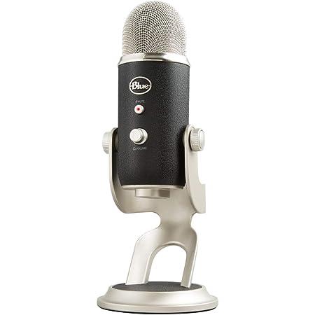 Blue Microphones Yeti - Micrófono USB para grabación y streaming en PC y Mac, 3 cápsulasde condensador, 4 patrones de captación, Salida de auriculares y control de volumen, Negro/Plateado