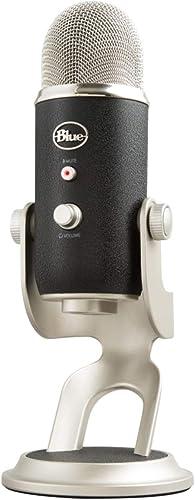 Blue Microphones Yeti - Micrófono USB para grabación y streaming en PC y Mac, 3 cápsulasde condensador, 4 patrones de...