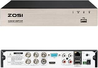 Salida HDMI//VGA 1TB Disco Duro ZOSI 4 Canales 1080P HD TVI//CVI//AHD//An/álogo 4-en-1 Grabador de Videovigilancia para Sistema de Seguridad