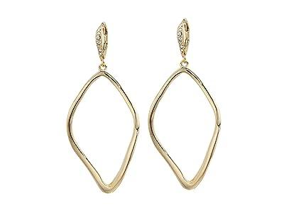 Alexis Bittar Leverback with Sculpted Aura Tear Earrings (10K Gold) Earring