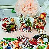 BLOUR 35 Stück Weihnachtskombination Kids Fun Paper Stickers Selbstgemachte...