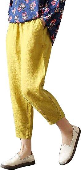 Femmes Lin Été harem pantalon 44 46 48 50 52 54 56 58 60 L XL XXL 3xl Plage