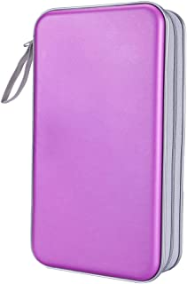 Siveit 80 Capacity Heavy Duty CD/DVD Wallet Binder, Storage, Case, Bag, Holder, Booklet (Purple)