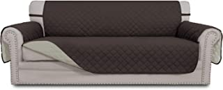 Best Easy-Going Sofa Slipcover Reversible Sofa Cover Water Resistant Couch Cover Furniture Protector with Elastic Straps for Pets Kids Children Dog Cat(Sofa, Chocolate/Beige) Reviews