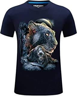 T-Shirts for Men, MmNote Dark Tiger Walking Print Men's Dark Tiger Walking Print Cool Quick Loose Simple Short Sleeve
