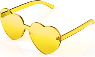 yellow see through sunglasses