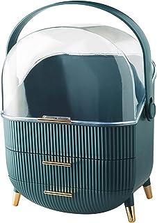 Beauty Case Make-up Organisatoren, Acryl Make-up Organizer Case Sieradenhouder Box Display, Laden + Stofdichte Hoes, Voor ...