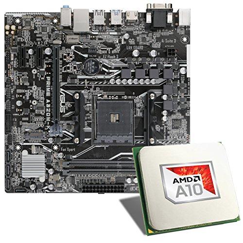 AMD A10-9700 / ASUS Prime A320M-K Mainboard Bundle | CSL PC Aufrüstkit | AMD A10-9700 APU 4X 3500 MHz, Radeon R7, GigLAN, 7.1 Sound | Aufrüstset | PC Tuning Kit
