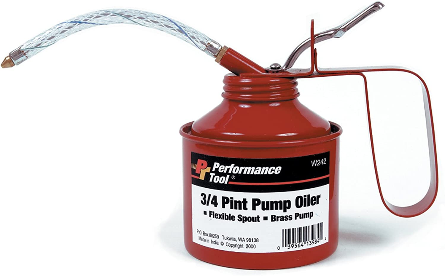 OFFer Performance Very popular Tool W242 Red 3 Oiler Pint Pump 4