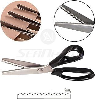 Profesional tijeras de costura dentadas Craft - profesional de acero inoxidable tijeras dentadas Zig Zag - para bordar, coser, costura, tejido y papel, de corte costura y tapicería, serrated - 3MM
