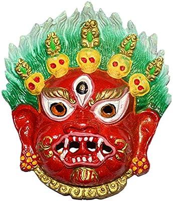 90dd5fa483c Reiki Crystal Products Lucky Spiritual Mahakala Wall Sculpture - Hindu God  Shiva Wall Decor Hanging Mask