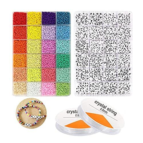 Abalorios Mi Bead Single Letra Bead 2 Pulsera De Bricolaje De Primavera En Caja 3Mm Conjunto-Conjunto De Cajas (Alfabeto De Goteo)_3Mm (Más De 500)