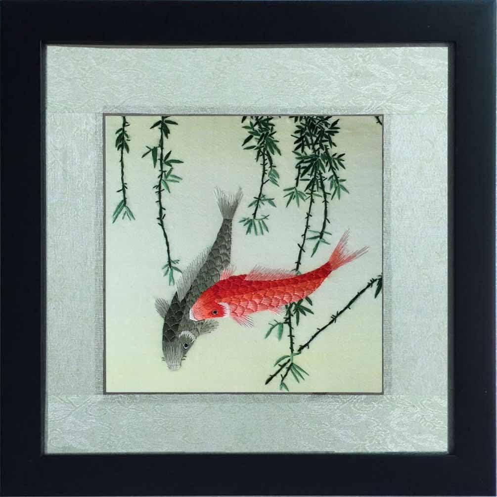 Chinese SuZhou Silk Embroidery FrameMAGNOLIA