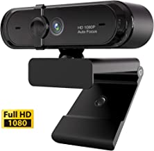 1080P Webcam, HDWeb Camera with Built-in Microphone & Privacy Cover, USB Web Cam with Wide Angle Lens & Large Sensor