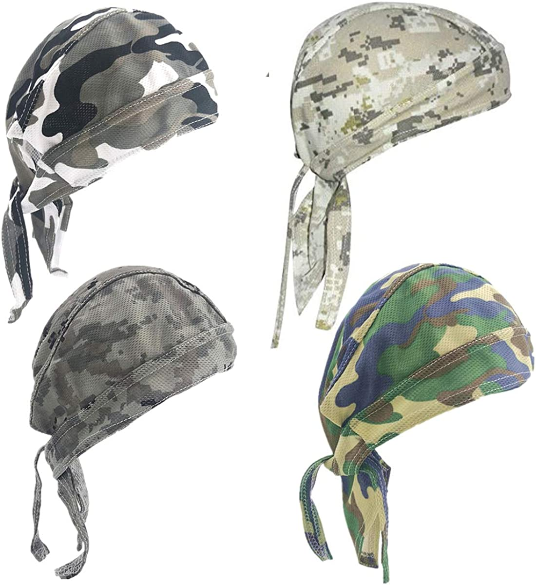 Quality 2021 spring and summer new inspection whamz33 4 Pack Dew Rags Sweat Motorcycle Doo Cycling Wicking Qu