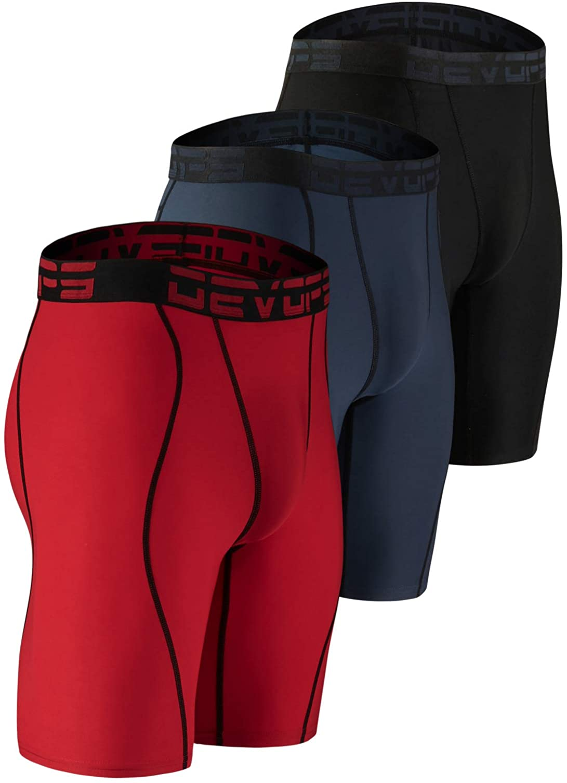 DEVOPS Men's Compression Shorts Underwear with Pocket (3 Pack) at  Men's Clothing store