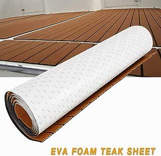 TBVECHI Teak Sheet 106''x35'' Boat Flooring Self-Adhesiv Marine Flooring EVA Foam Yacht Teak Decking Sheet Floor